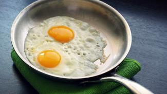 Ilustrasi telur/memasak telur/menggoreng telur.