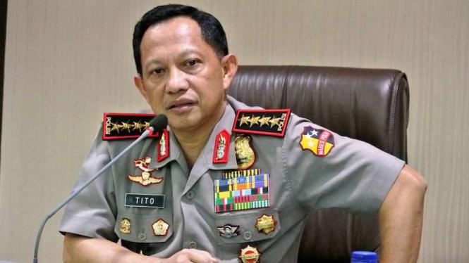 Kepala Kepolisian Republik Indonesia, Jenderal Polisi Tito Karnavian.