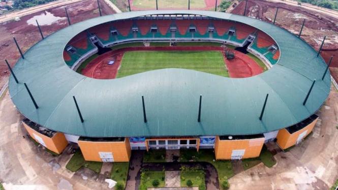 Stadion Pakansari, Cibinong, Kabupaten Bogor.