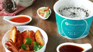 Ilustrasi menu makan siang.