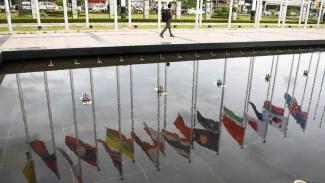 Ilustrasi Bendera Negara ASEAN.