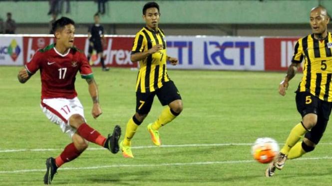 Striker timnas Indonesia, Irfan Bachdim.
