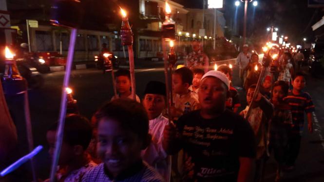 Kemeriahan Takbir Keliling Sambut Idul Adha