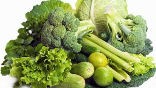Ilustrasi sayuran hijau.