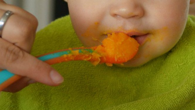 Ilustrasi makanan bayi.
