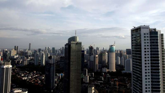 Ilustrasi bangunan properti di Jakarta.