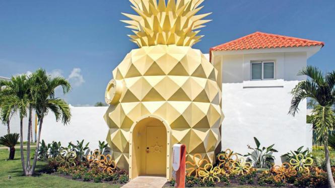 Rumah berbentuk nanas SpongeBob.