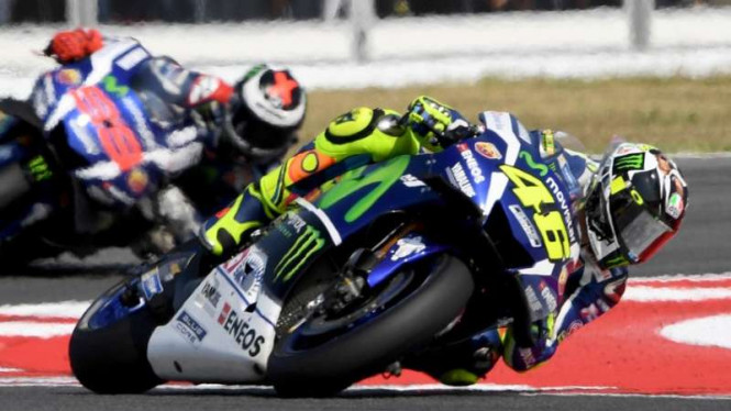 Pembalap Yamaha, Valentino Rossi dan Jorge Lorenzo
