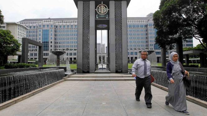 Kantor pusat Bank Indonesia di Jakarta.