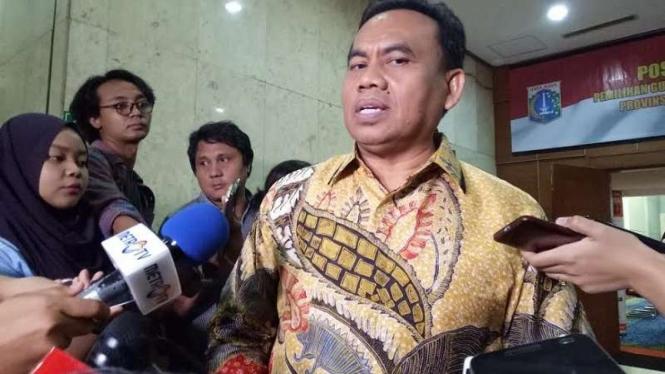 Sekretaris Daerah Pemerintah Provinsi DKI Jakarta, Saefullah.