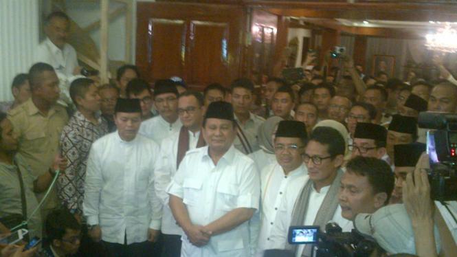 Ilustrasi. Prabowo Subianto saat mendeklarasikan Anies-Sandiaga sebagai cagub dan cawagub DKI Jakarta.