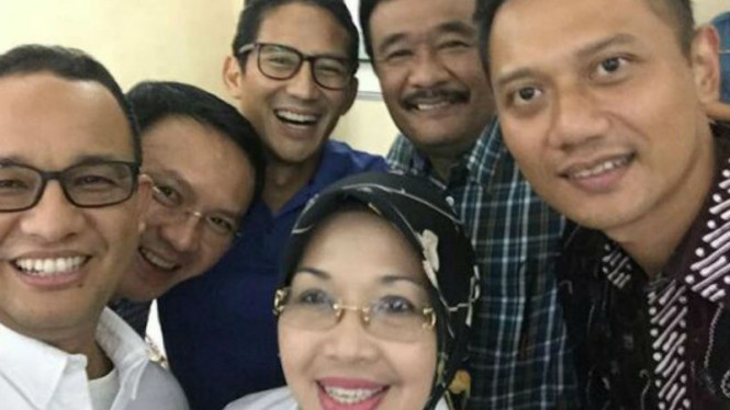 Para calon gubernur dan wakil gubernur untuk Pilkada DKI Jakarta 2017.