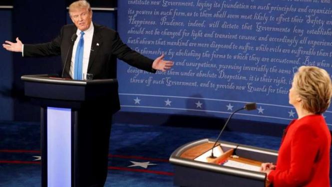 Debat Hillary Clinton versus Donald Trump.