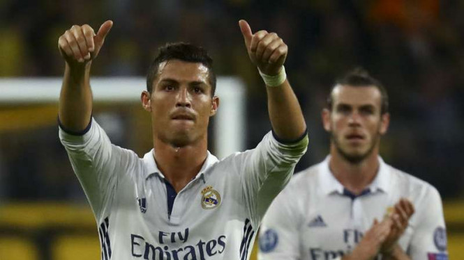 Bintang Real Madrid, Cristiano Ronaldo, dan Gareth Bale.