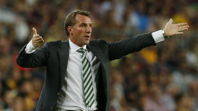 Pelatih Celtic Brendan Rodgers.