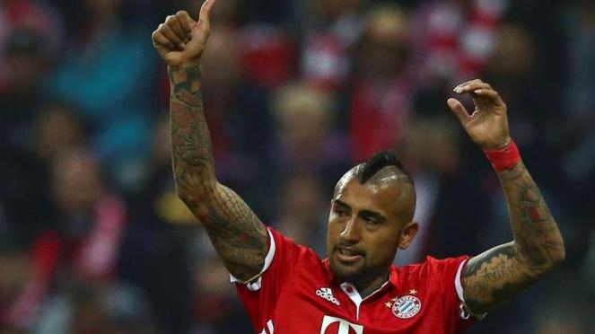 Gelandang Bayern Munich, Arturo Vidal.