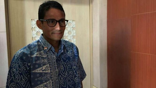 Bakal calon wakil gubernur DKI Sandiaga Uno.
