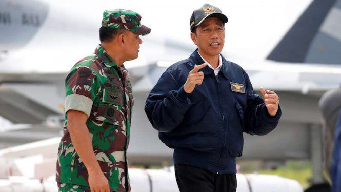 Gatot Nurmantyo saat masih jadi Panglima TNI bersama Presiden Joko Widodo beberapa waktu silam.