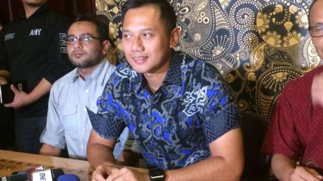 Agus Harimurti Yudhoyono di Kawasan SCBD, Jakarta