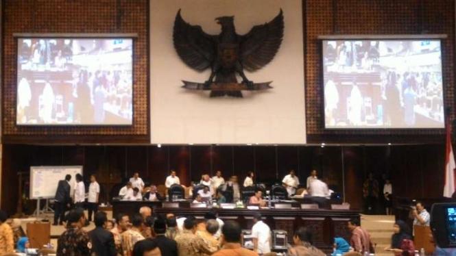 Para anggota Dewan Perwakilan Daerah saat menggelar sidang paripurna beberapa waktu lalu.