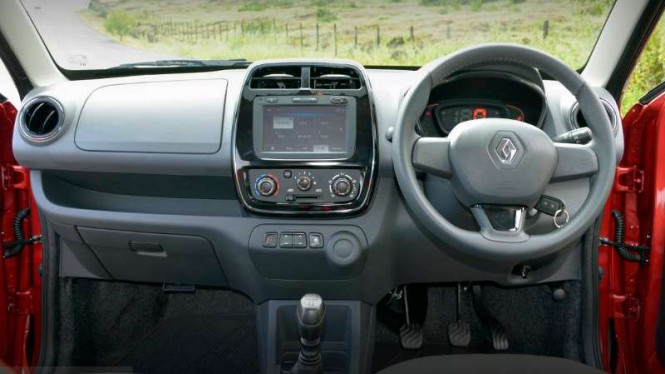 Interior Renault Kwid.