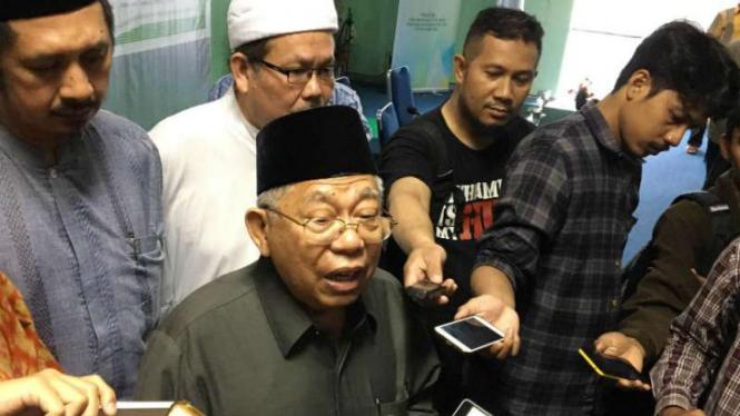 Ketua Umum Majelis Ulama Indonesia (MUI) KH, Ma'ruf Amin.