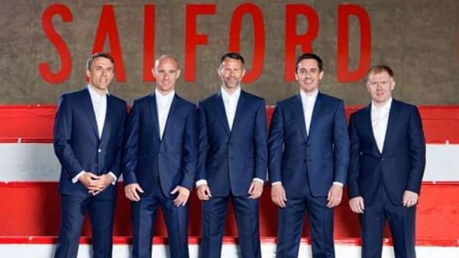 Para legenda Manchester United kompak membeli klub amatir, Salford City FC.