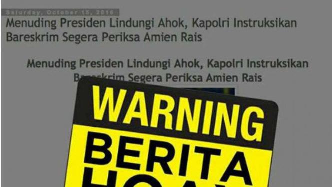 Informasi tidak benar atau hoax