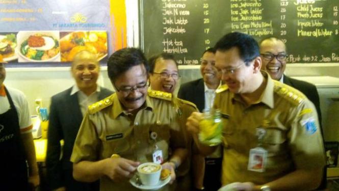 Gubernur DKI Jakarta, Basuki Tjahaja Purnama, dan Wakil Gubernur Djarot Saiful Hidayat.