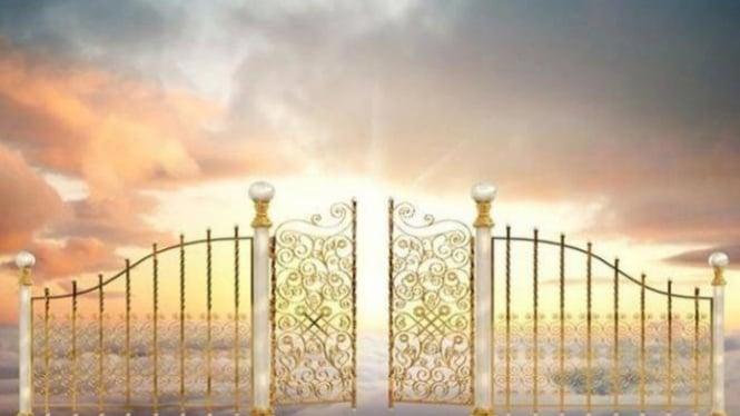 Ilustrasi pintu surga.