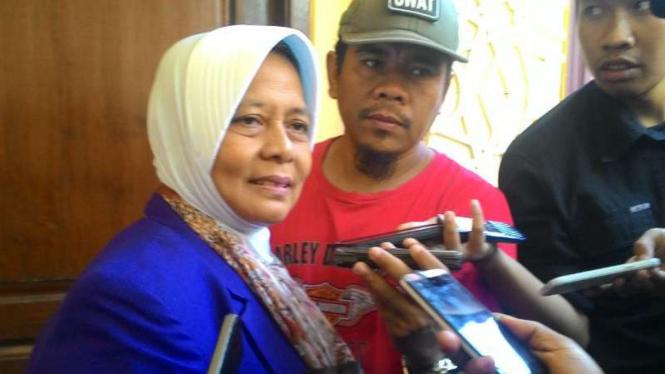 Marwah Daud Ibrahim di Markas Polda Jatim, Surabaya, pada Senin, 17 Oktober 2016