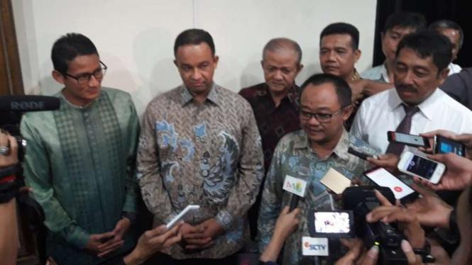 PP Muhammadiyah bertemu Anies dan Sandiaga, Senin, 17 Oktober 2016.