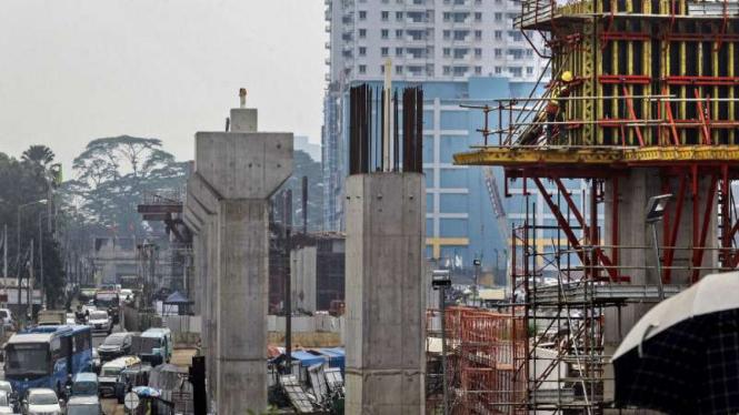 Proyek pembangunan jalur Mass Rapid Transit (MRT).