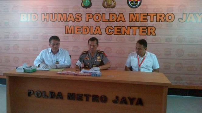 Jumpa pers kasus pemerasan yang dilakukan empat anggota Polsek Gambir, Jakarta, Rabu, 19 Oktober 2016.