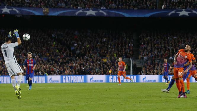 Barcelona saat menang 4-0 atas Manchester City.