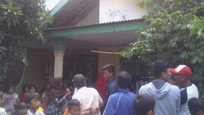 Rumah SA pelaku penyerangan polisi di Tangerang.