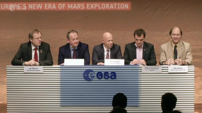 ESA menggelar keterangan pers terkait misi ExoMars
