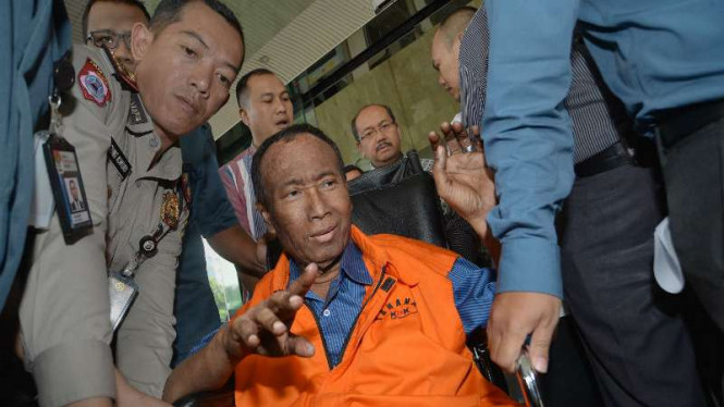 Sugiharto, saat masih berstatus tersangka korupsi e-KTP.