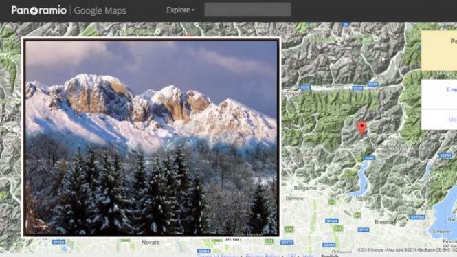 Tampilan Google Panoramio.