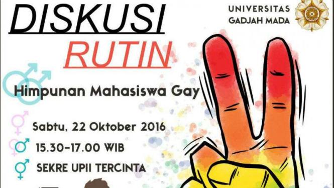 Ugm Dihebohkan Poster Kegiatan Diskusi Kaum Gay Viva