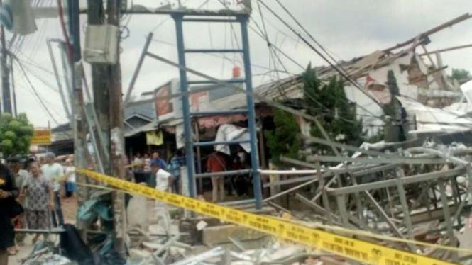 Ledakan di PHD Jatimelati Bekasi