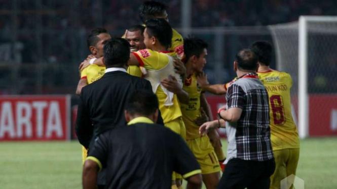 Para pemain Sriwijaya FC.