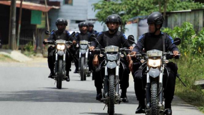 Patroli keamanan menjelang pelaksanaan pilkada serentak di Aceh