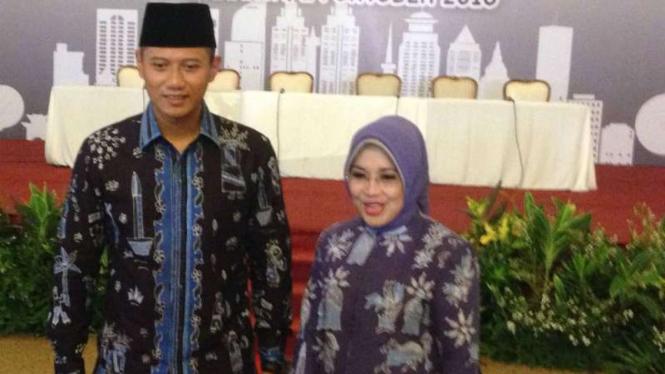 Pasangan calon Gubernur dan Wakil Gubernur DKI Jakarta, Agus Harimurti Yudhoyono dan Sylviana Murni