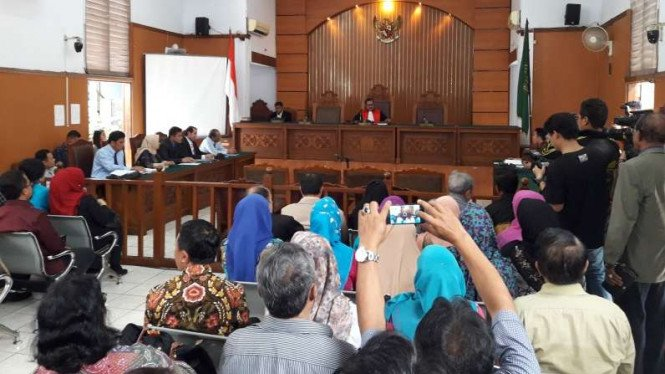 Suasana sidang praperadilan Irman Gusman di PN Jakarta Selatan.