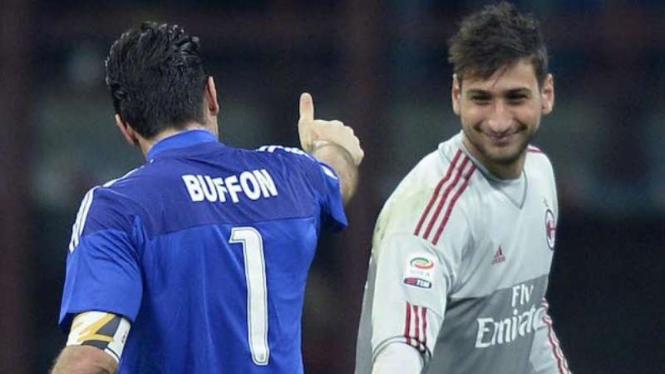 Gianluigi Buffon dan Gianluig Donnarumma.