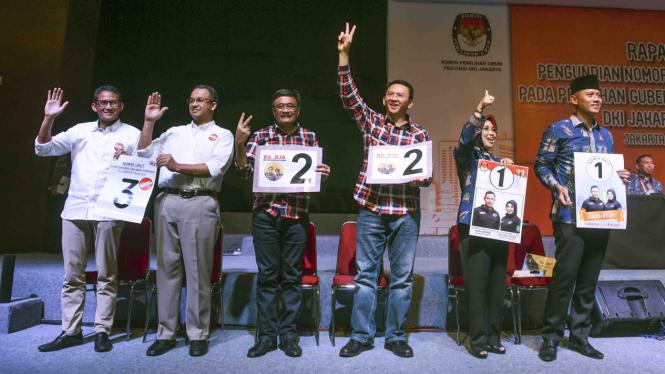 Para calon gubernur dan wakil gubernur DKI Jakarta untuk Pemilihan Kepala Daerah 2017.