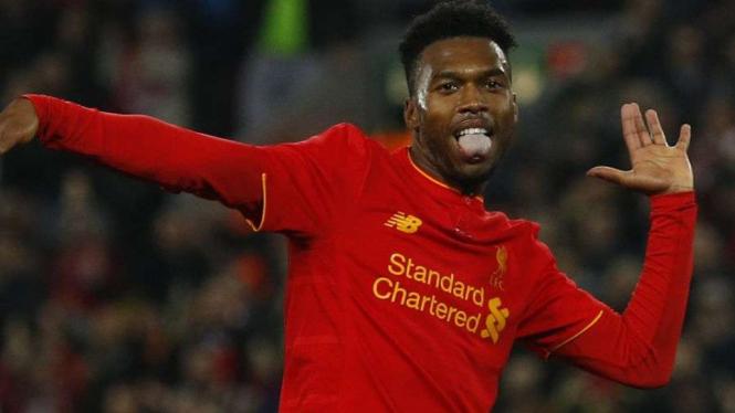 Selebrasi pemain Liverpool, Daniel Sturridge