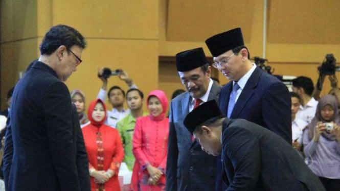 Pelantikan Pelaksana Tugas Gubernur DKI Jakarta dan Gubernur Banten.