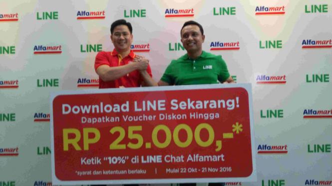 Kerja sama Alfamart dan Line